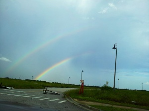 Only double rainbow I have ever seen.  Hubby was driving me to a Michaels round Davenport  & we were just pulling into the parking lot.  How's that for timing?