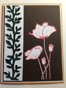 Penny Black Blooming Garden stamp and die.