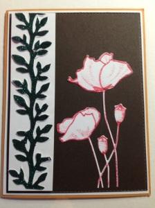 Penny Black Blooming Garden stamp and die.