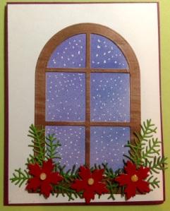 Gentle snowfall through the window