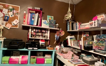 One partial corner of my craft room