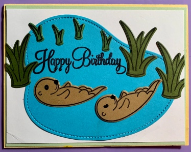 #1 Hbday Otter Card